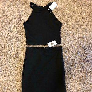 Sally Miller Aria 2-piece dress black sz S junior